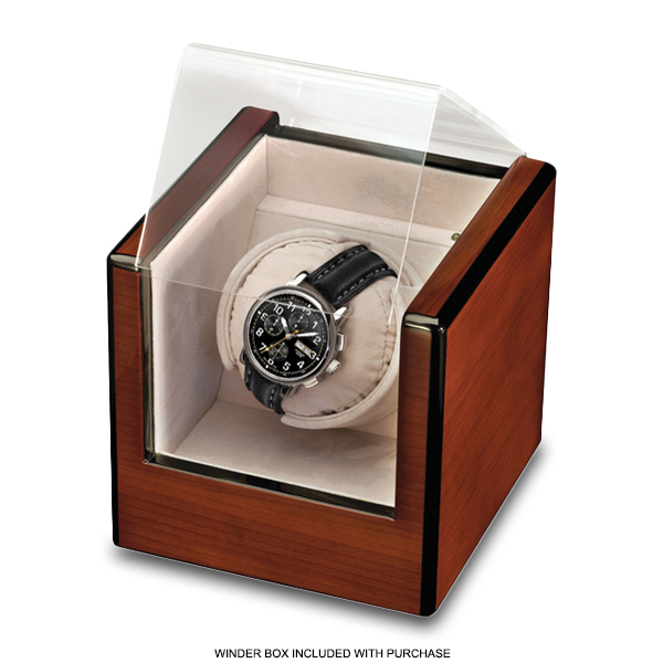 Allurez Mens Swiss-Made Auto-Mechanical Black Crocodile Skin Timepiece