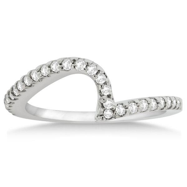 Contour Diamond Wedding Band Prong Set in Platinum 0.25ct