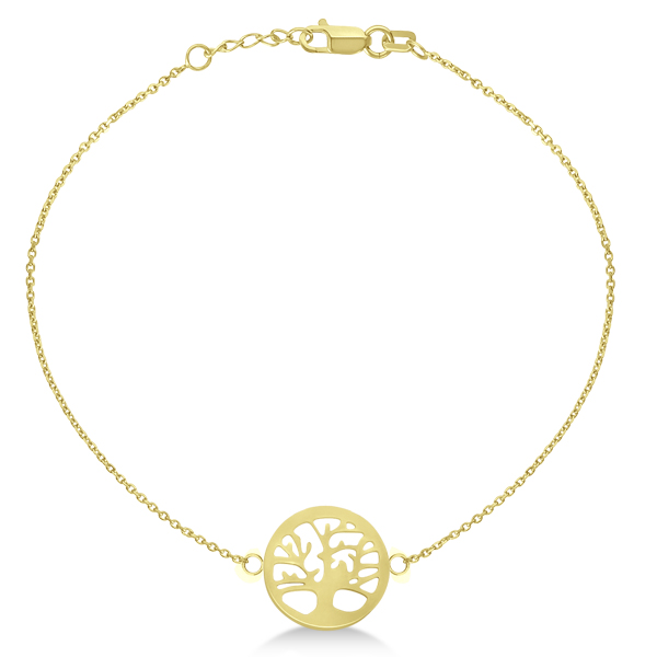 Family Tree of Life Bracelet 14k Yellow Gold