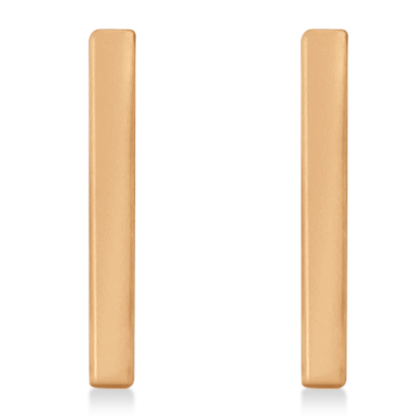 Post-Back Petite Bar Earrings 14k Rose Gold