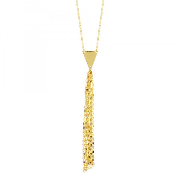 14kt Yellow Gold Hammered ForzentinaY Necklace