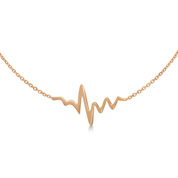 Adjustable Heartbeat Bracelet in 14k Rose Gold