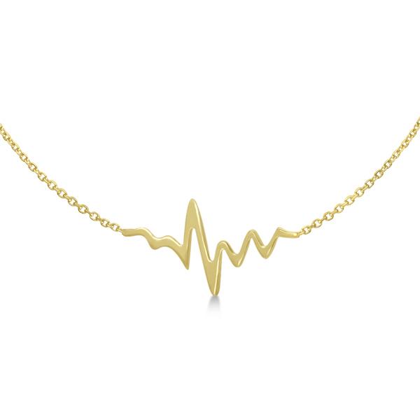 Adjustable Heartbeat Bracelet in 14k Yellow Gold