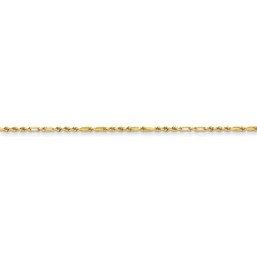 Diamond-cut Milano Rope Chain Necklace in 14k Yellow Gold
