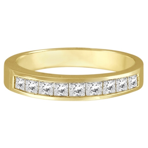 Princess-Cut Channel-Set Diamond Ring Band 14k Yellow Gold (1/2ct)