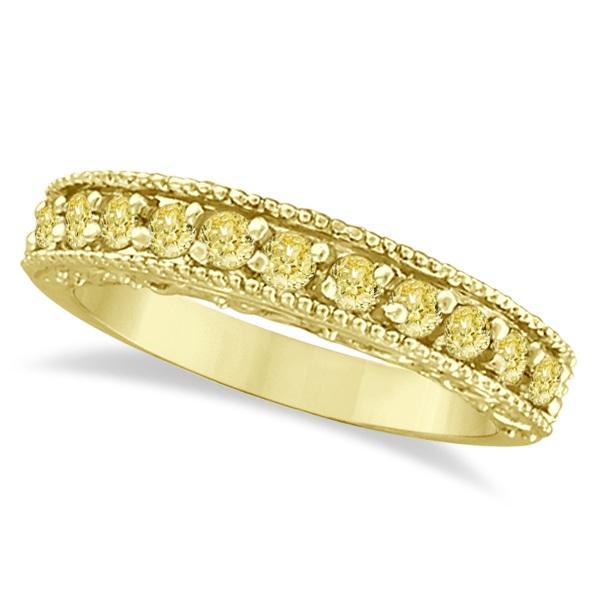 Fancy Yellow Canary Diamond Ring Anniversary Band 14k Yellow Gold (0.30ct)