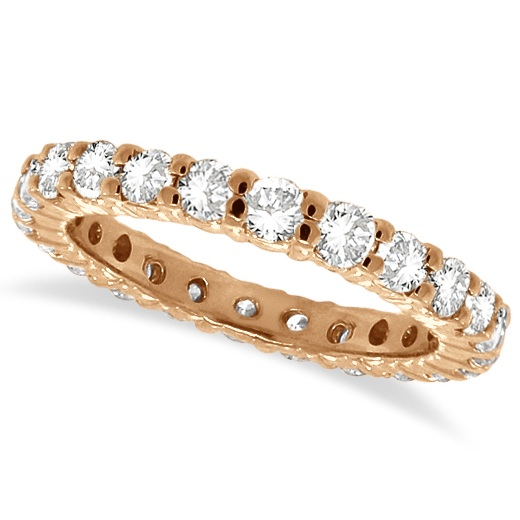Diamond Eternity Ring Wedding Band 14k Rose Gold (1.07ctw)