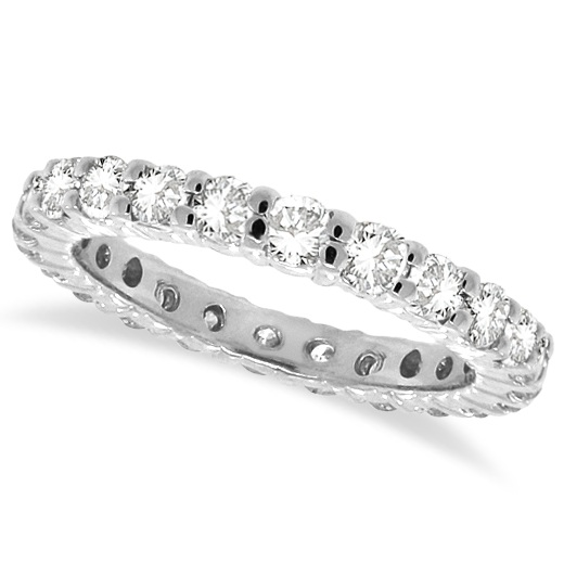 Diamond Eternity Ring Wedding Band 14k White Gold (1.07ctw)