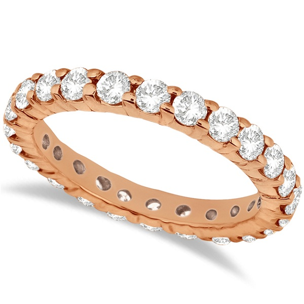 Diamond Eternity Ring Wedding Band in 14k Rose Gold (2.00ct)