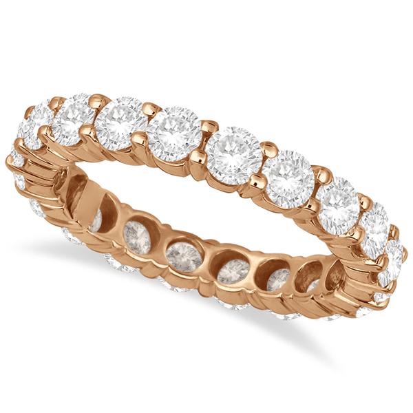 Diamond Eternity Ring Wedding Band 18k Rose Gold (3.00ct)