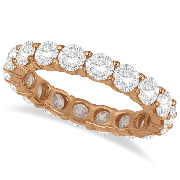 Diamond Eternity Ring Wedding Band 18k Rose Gold (3.75ct)