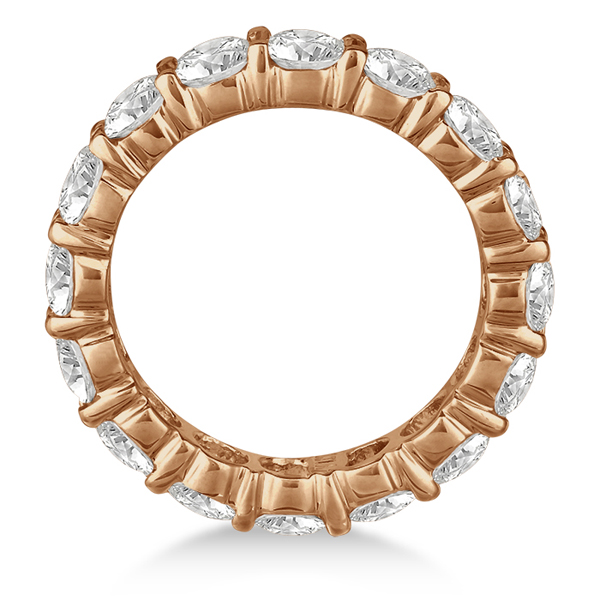 Diamond Eternity Ring Wedding Band 18k Rose Gold (5.00ct)