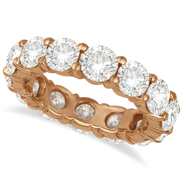 Diamond Eternity Ring Wedding Band 18k Rose Gold (6.00ct)