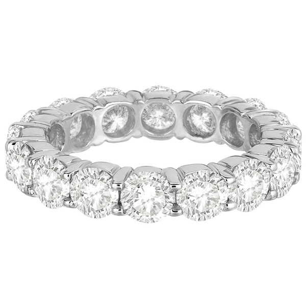 Diamond Eternity Ring Wedding Band 18k White Gold (5.00ct)