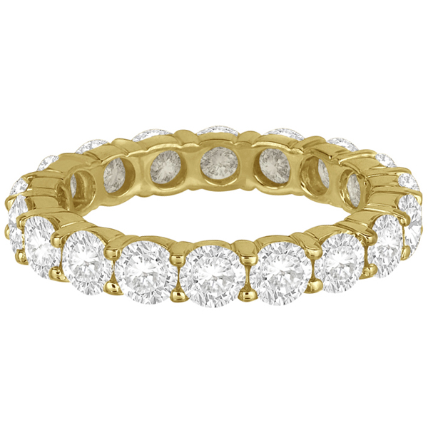 Diamond Eternity Ring Wedding Band 18k Yellow Gold (3.75ct)