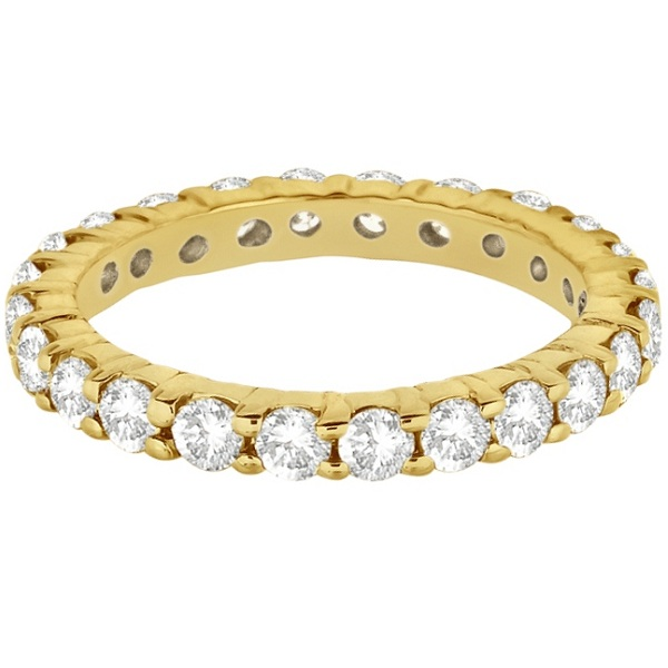 Diamond Eternity Ring Wedding Band in 14k Yellow Gold (2.00ct)