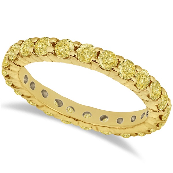 Fancy Yellow Canary Diamond Eternity Band 14k Yellow Gold (2.00ct)