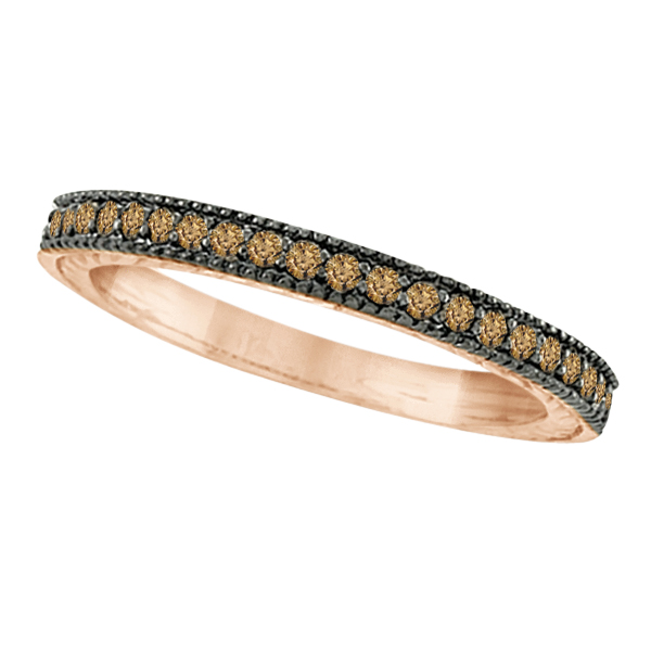 Champagne Diamond Ring Band 14K Rose Gold (0.31ct)