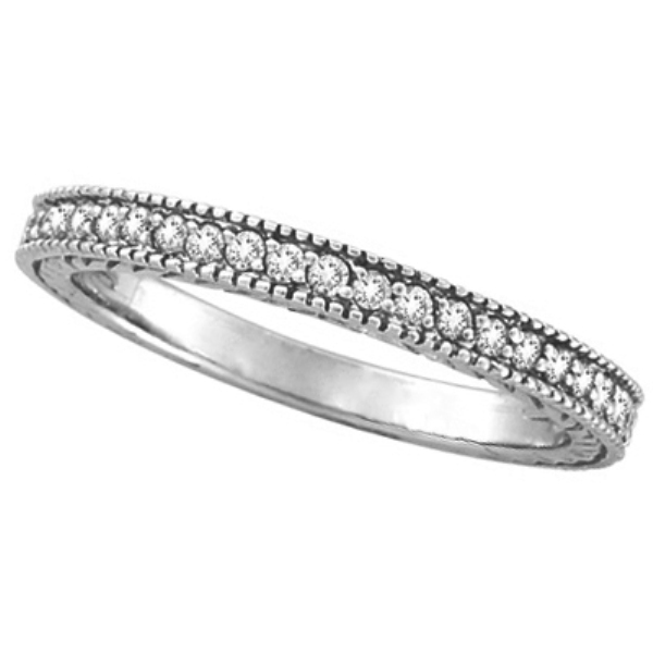 Diamond Stackable Ring Thin Band in 14K White Gold (0.31 ctw)