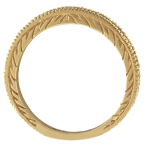 Diamond Stackable Ring Thin Band in 14K Yellow Gold (0.31 ctw)
