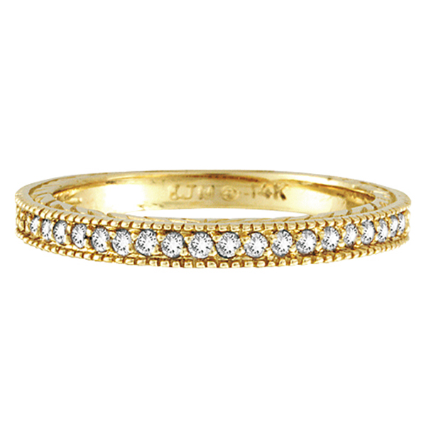 Diamond Wedding Ring Band in 14K Yellow Gold (0.31 ctw)