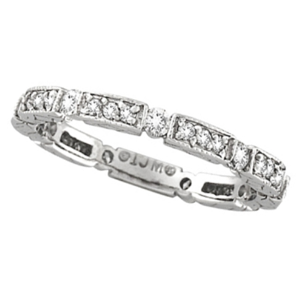 Diamond Anniversary Band 14k White Gold (0.50 ctw)