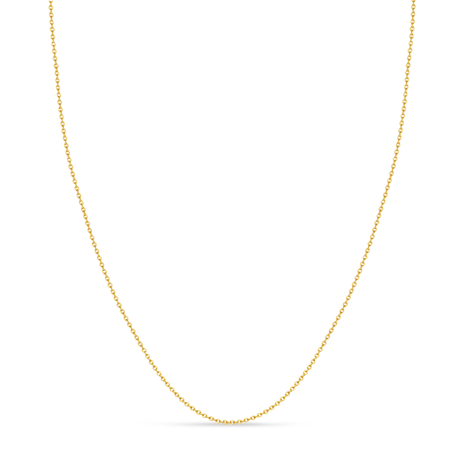 Cable Chain Necklace With Lobster Lock 14k Yellow Gold