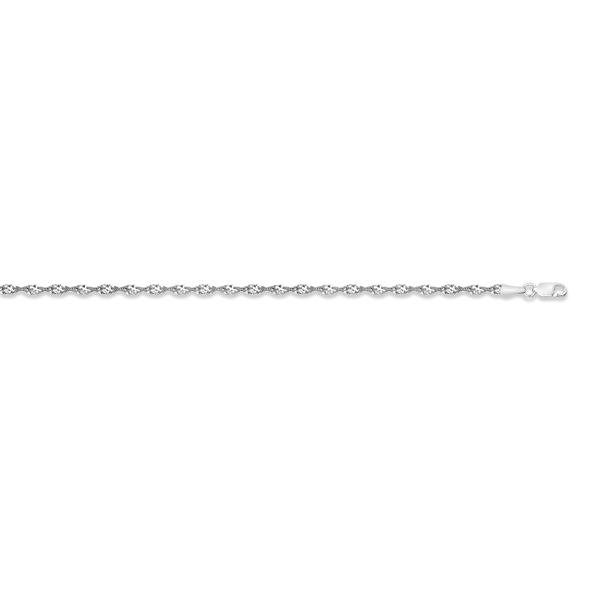 Adjustable Dorica Chain Anklet in 14k White Gold