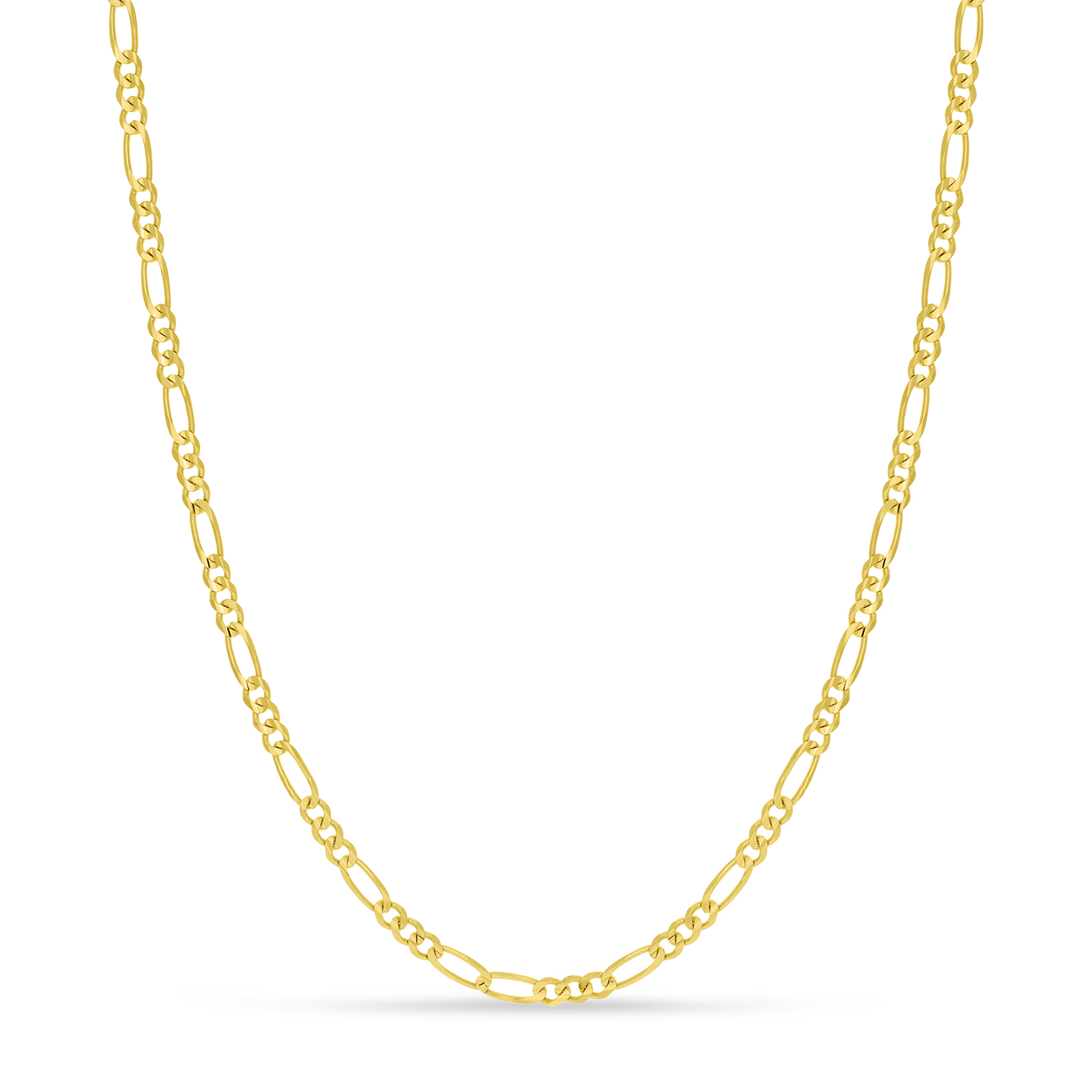 Large Figaro Chain Necklace With Lobster Lock 14k Yellow Gold