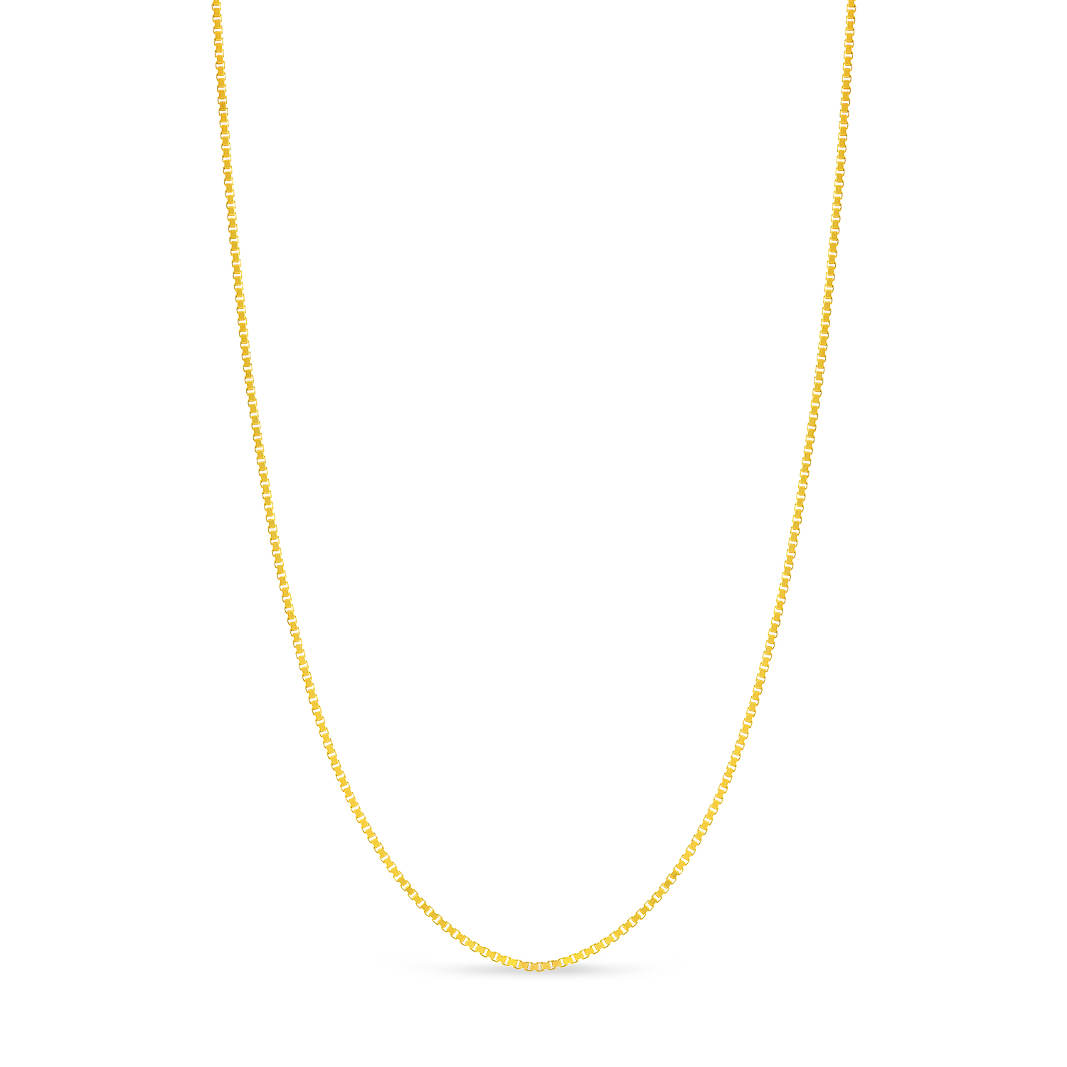 Large Box Chain Necklace With Lobster Lock 14k Yellow Gold