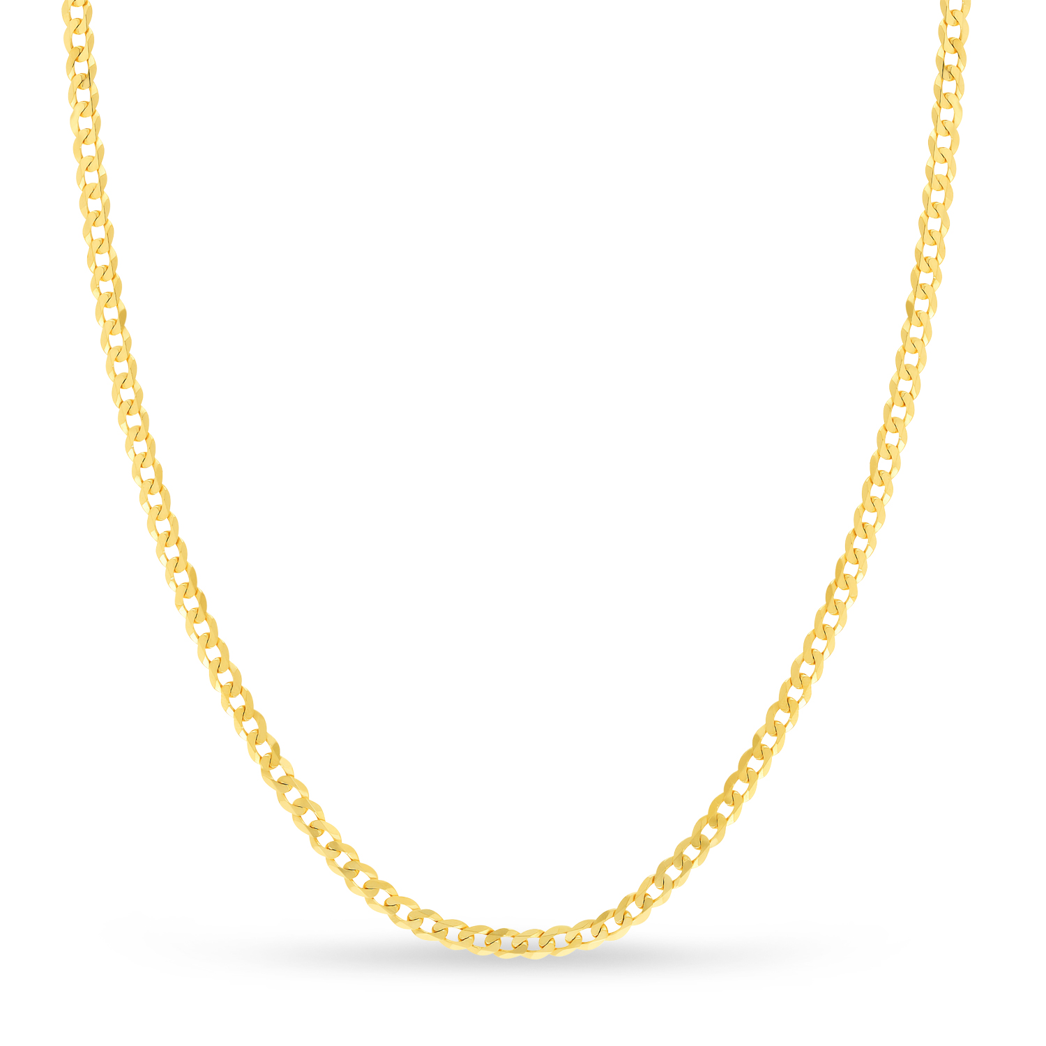 Curb Chain Necklace With Lobster Lock 14k Yellow Gold