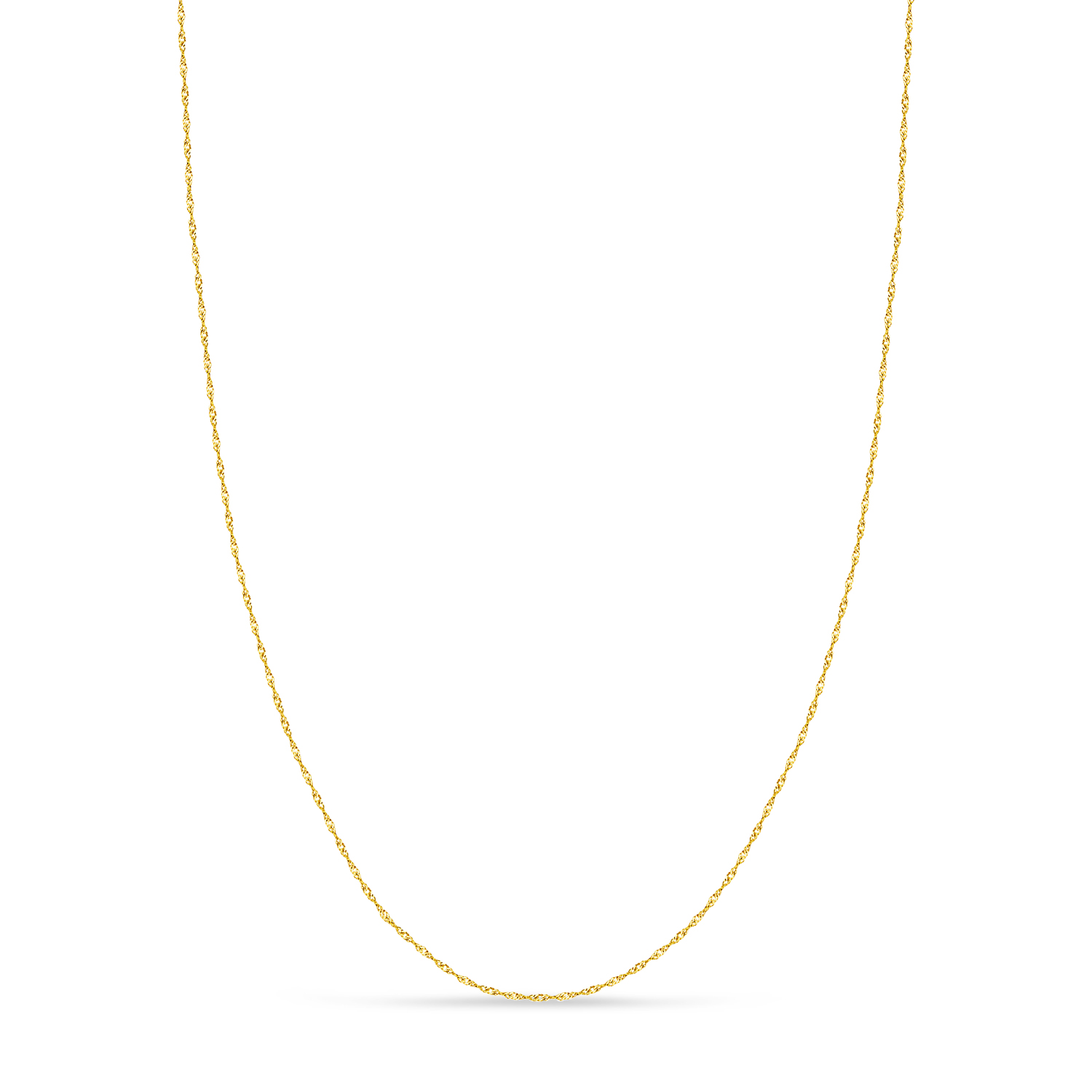 Singapore Chain Necklace With Lobster Lock 14k Yellow Gold