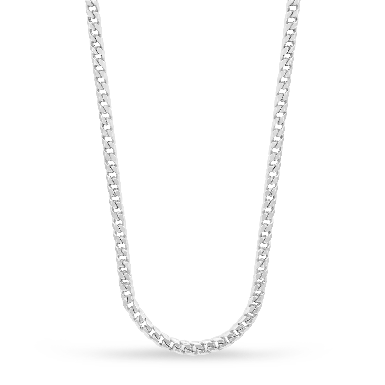 Franco Chain Necklace 14k White Gold