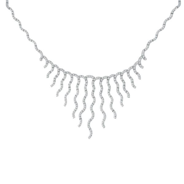Diamond Bridal Choker Necklace 14k White Gold (3.04 ctw)