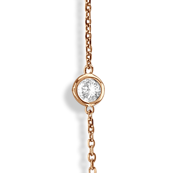 Diamonds by The Yard Bezel-Set Necklace in 14k Rose Gold (3.00ct)