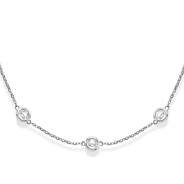Diamonds by The Yard Bezel-Set Necklace 14k White Gold (3.50ct)