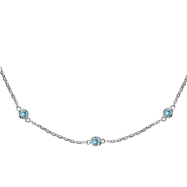 Aquamarine Gemstones by The Yard Station Necklace 14k W. Gold 1.25ct