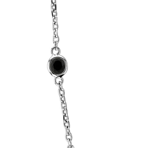 Black Diamonds by The Yard Necklace Bezel-Set 14k White Gold (1.50ct)