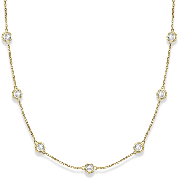 Diamonds by The Yard Bezel-Set Necklace in 14k Yellow Gold (3.00ct)