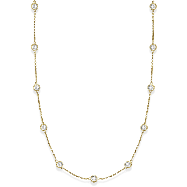 Diamonds by The Yard Bezel-Set Necklace in 14k Yellow Gold (3.50ct)