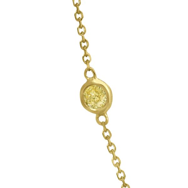 Fancy Yellow Diamond Station Necklace 14K Yellow Gold (1.00ct)