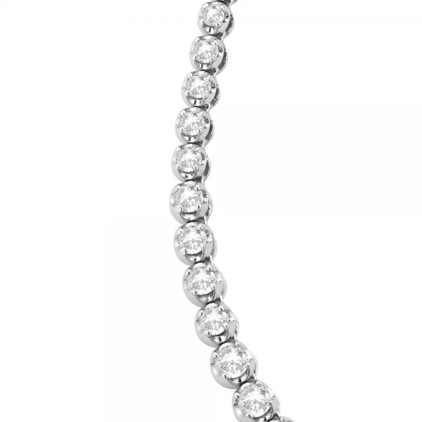 Eternity Diamond Tennis Necklace 14k White Gold (10.35ct)
