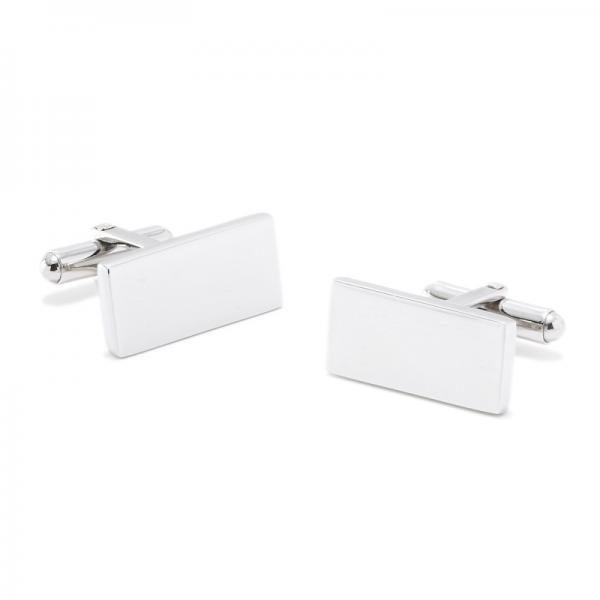 Sleek Engravable Bar Classic Cufflinks in Stainless Steel