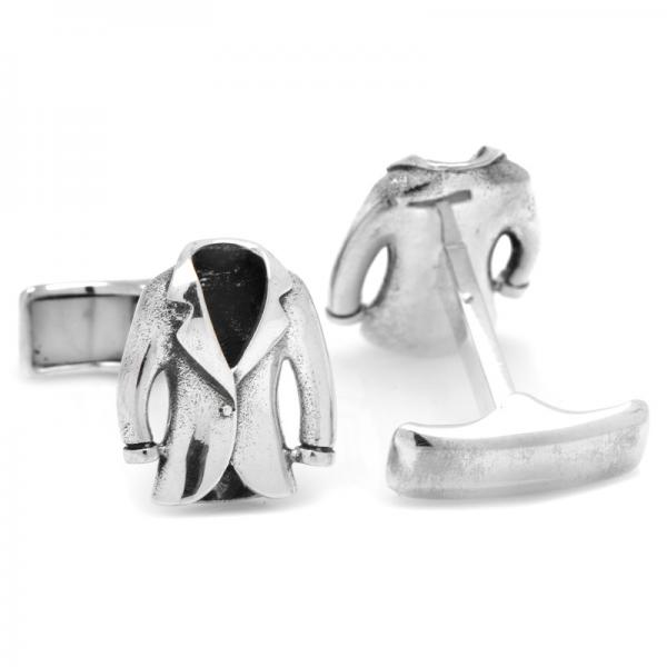 Designer Suit Jacket Cufflinks in Sterling Silver