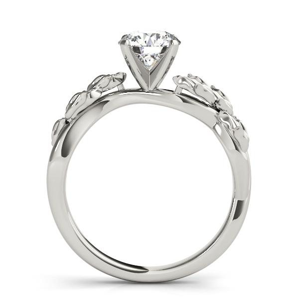 Solitaire Tulip Vine Leaf Engagement Ring Setting Platinum