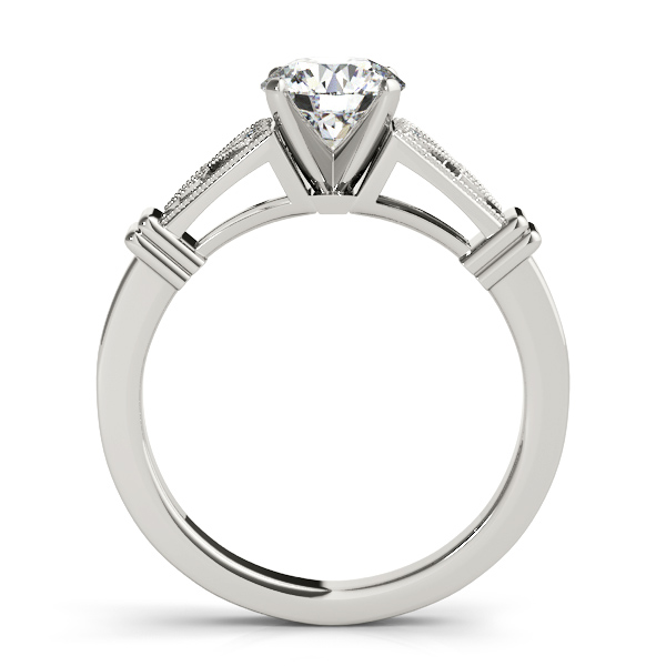Diamond Milgrain Heart Engagement Ring Setting Platinum 0 10ct