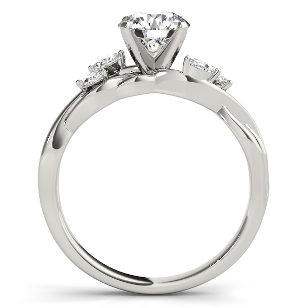 Diamond Marquise Vine Leaf Engagement Ring Setting Platinum (0.20ct)