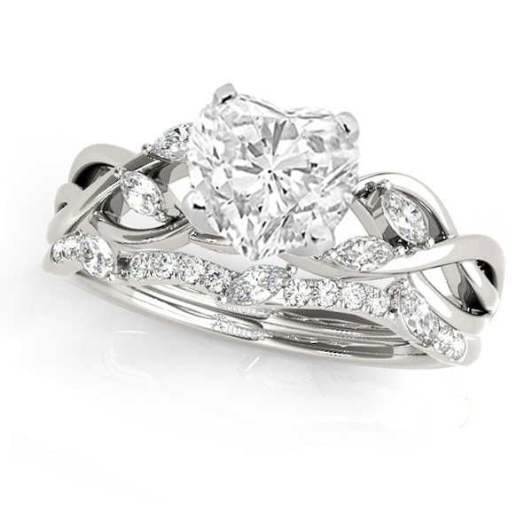 Twisted Heart Diamonds Bridal Sets 14k White Gold (1.23ct)