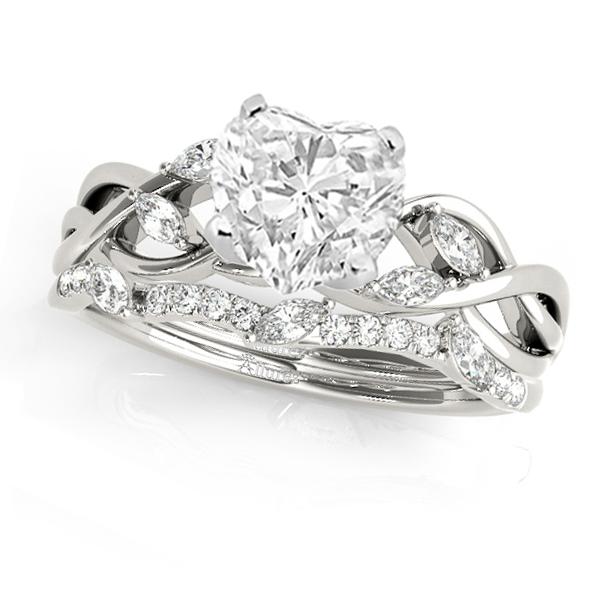 Twisted Heart Diamonds Bridal Sets 14k White Gold (1.73ct)