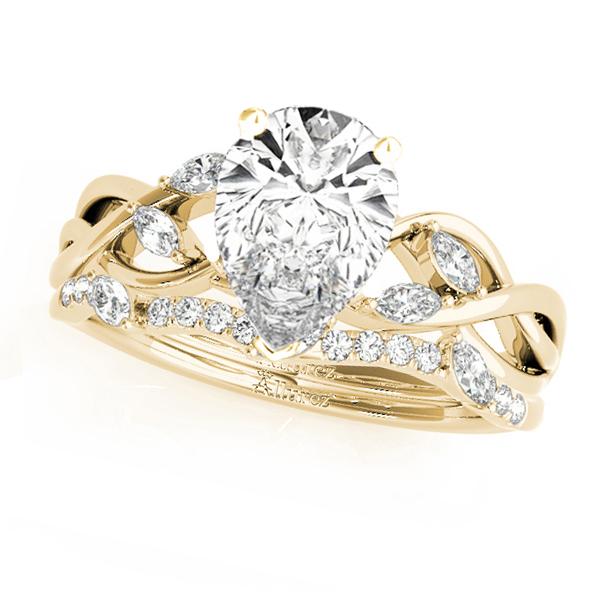 Twisted Pear Diamonds Bridal Sets 14k Yellow Gold (1.73ct)